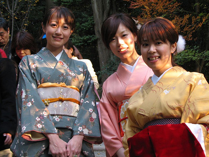 Japanese girls in kimono