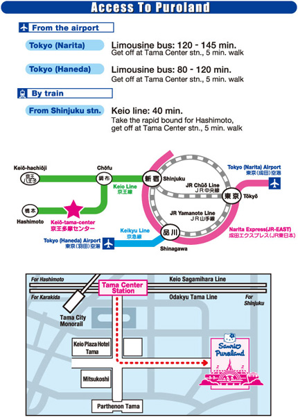 Hello Kitty Park Directions