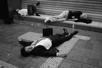 Japanese Salaryman Sleeping
