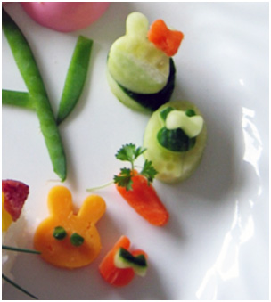 bento vegetable shapes