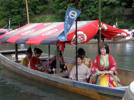 Mifune Matsuri participants in boat