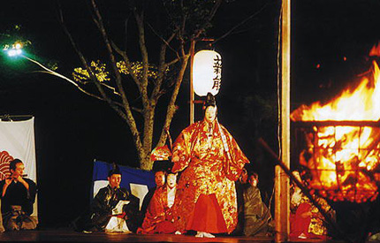 Outdoor Noh performance