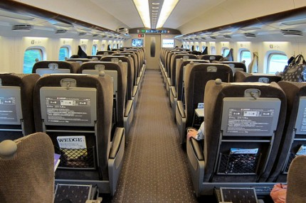 Shinkansen seating
