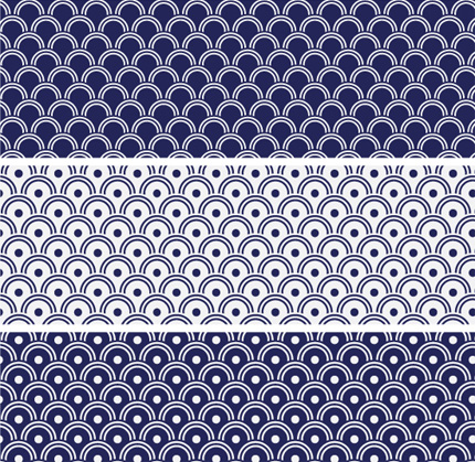 Japanese wave pattern tutorial