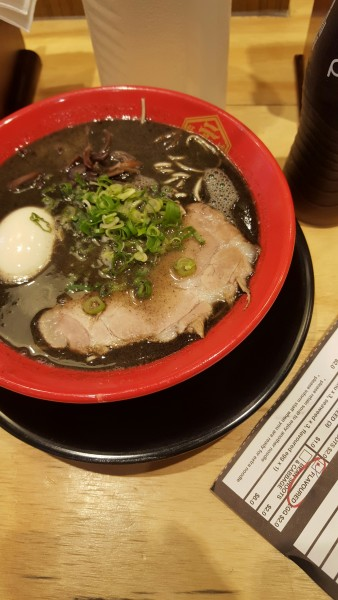 Special black sesame and garlic ramen.